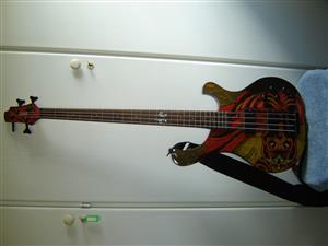 CORT bass guitar and 300 Watt BEHRINGER Amplifier