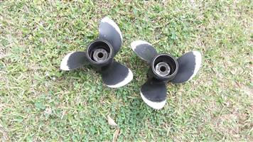 Two genuine 10x15 Evinrude propellers for sale in Howick KZN