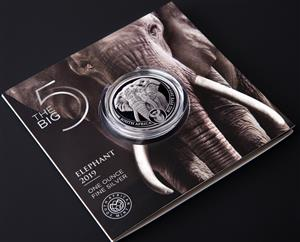2019 Silver R5 Brilliant Uncirculated 1oz Coin Big 5 Elephant South Africa