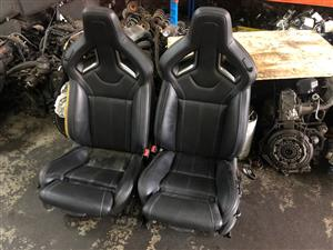 Opel Astra J OPC Complete Set of Original Leather Recaro Seats For Sale
