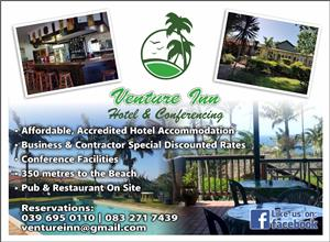 Affordable Contractor / Business / Holiday Accommodation Port Shepstone from R185 per person sharing a 4 sleeper.