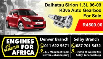 Daihutsu Sirion 1.3L k3ve 16v Vvti Gearbox Used For Sale