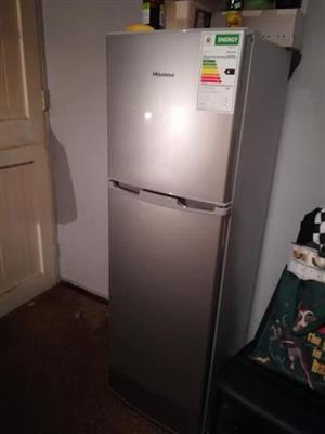 Silver Hisense fridge/freezer