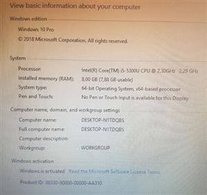 Dell E7450 5th Gen Core i5 14 inch HD Laptop 256SSD 8G Ram