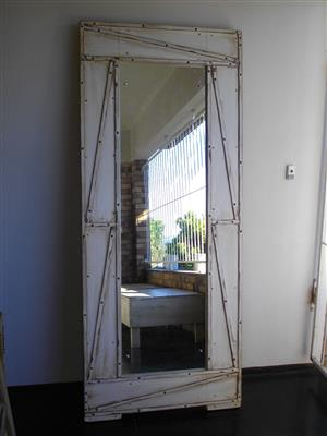 (RS 120) Exclusive Rustic Standing Mirrors. Frame H1980 x W830 mm. Price Was R4500 Now R3990 Each