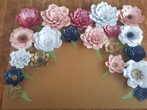 Paper flowers for nurseries, decor and photo backdrops