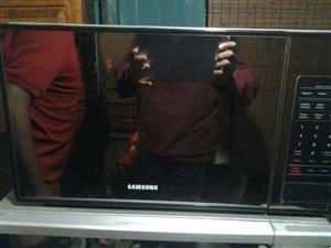 Samsung mirror door microwave has to go now