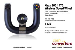 Xbox 360 1470 Wireless Speed Wheel