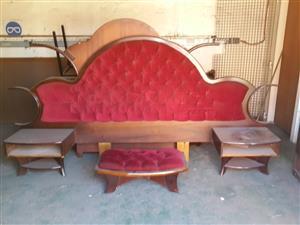 solid wood bedroom set, dubble bed, urgent sale