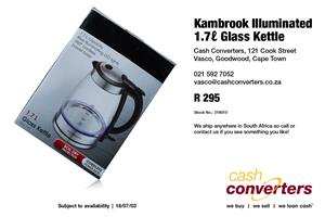 Kambrook Illuminated 1.7 Glass Kettle