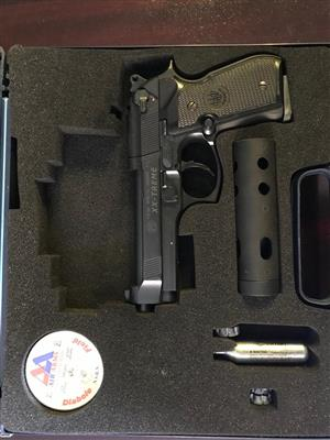 Glock Air Soft Pistol and Baretta Air Pistol