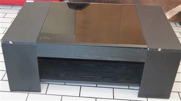 S034726A Black glass coffee table #Rosettenvillepawnshop