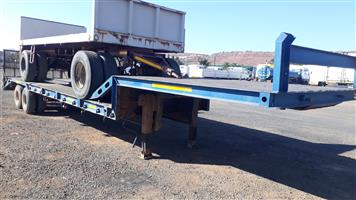 Double axle stepdeck trailer with ramps truck sales