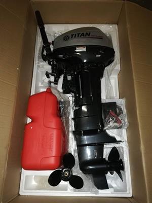 Brand new Titan outboard motor