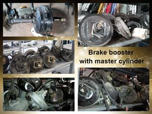 Brake booster with master cylinders for sale.