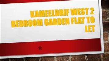 KAMEELDRIF WEST 2 BEDROOM GARDEN FLAT TO LET