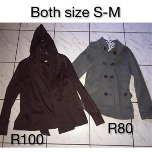 Maroon and grey jackets