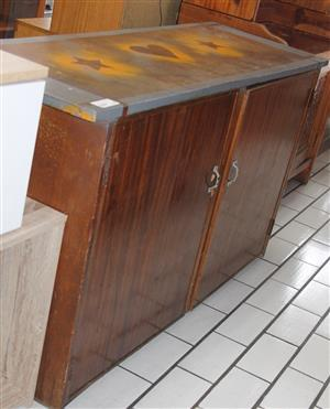 2 door brown cupboard S031944A #Rosettenvillepawnshop