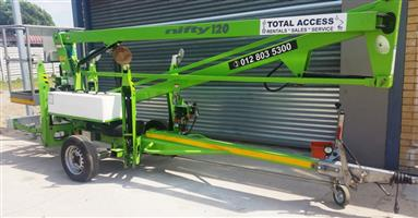 Cherry Pickers Total Access Hire- Nifty  120T 12M trailer mounted for hire/sale