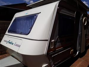 JURGENS FLEETLINE L WITH RALLY TENT WITH SIDES IN EXCELLENT CONDITION