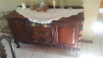 Antique dark wooden dining cabinet