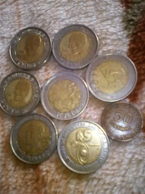 Mandela coins and other coins
