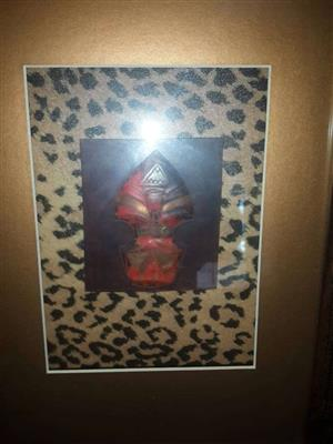 Framed hardwood 3d picture