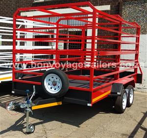 RED CATTLE TRAILER FOR SALE