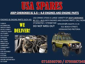 JEEP GRAND CHEROKEE XJ 2.5 4.0 5.7 ENGINES AND ENGINE PARTS