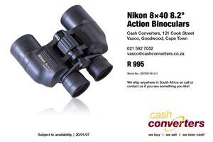 Nikon 8×40 8.2° Action Binoculars