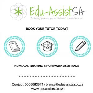 Book your tutor today with Edu-AssistSA!