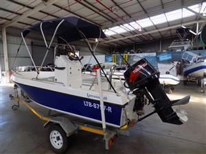 xpression 440 on trailer 70 hp tohatsu trim and tilt | Junk Mail