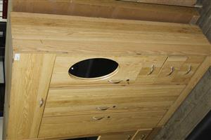 Oak 3 door wardrobe S037187A #Rosettenvillepawnshop