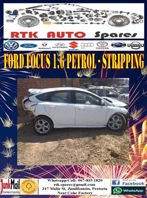 Ford Focus 1.6 Petrol 2008 - Stripping for Spares