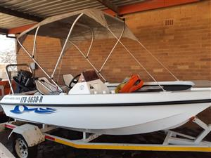 Arrowhead bass fishing boat and trailer for sale