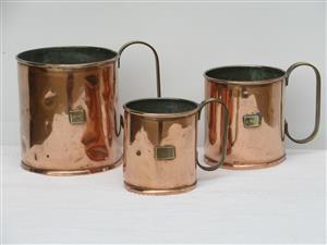 Set of Victorian Copper Measures(SKU 234 239 245)