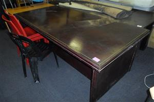 Large Brown Desk
