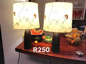 2 Matching lamps for sale
