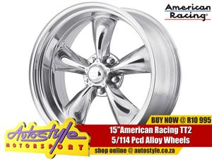 TT 2 15 inch American Racing alloy wheels NARROWS WIDES STAGGERED