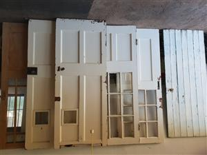 old used wooden doors from the 1940's