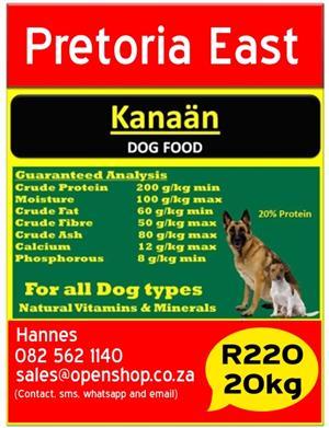 Kanaän Dog Food Pretoria East