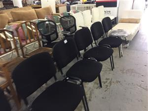6 Visitor Chairs in Black