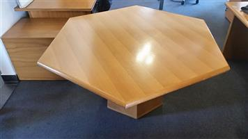Oak meeting table (Hexagon)