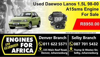 Used Daewoo Lanos 1.5L A15sms 98-00 Engine For Sale