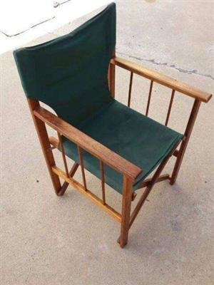 Fold-up Wooden Chair for outdoor or indoor use