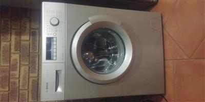 Bosch front loader metallic/silver finish washing machine