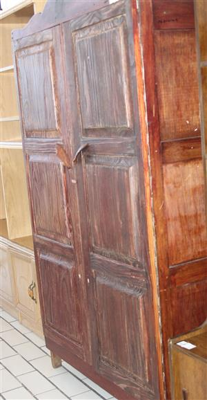 2 door brown wardrobe S031014C #Rosettenvillepawnshop