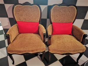 Two antique chair set