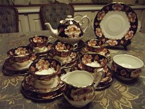 Royal Albert Heirloom 23 piece tea set for 6 people Brand New R 16000. or 21 piece for R 9150.