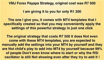 VMJ Forex Payapa Strategy, original cost was R7 500